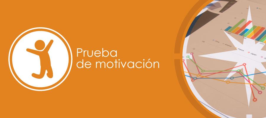 Prueba de motivación
